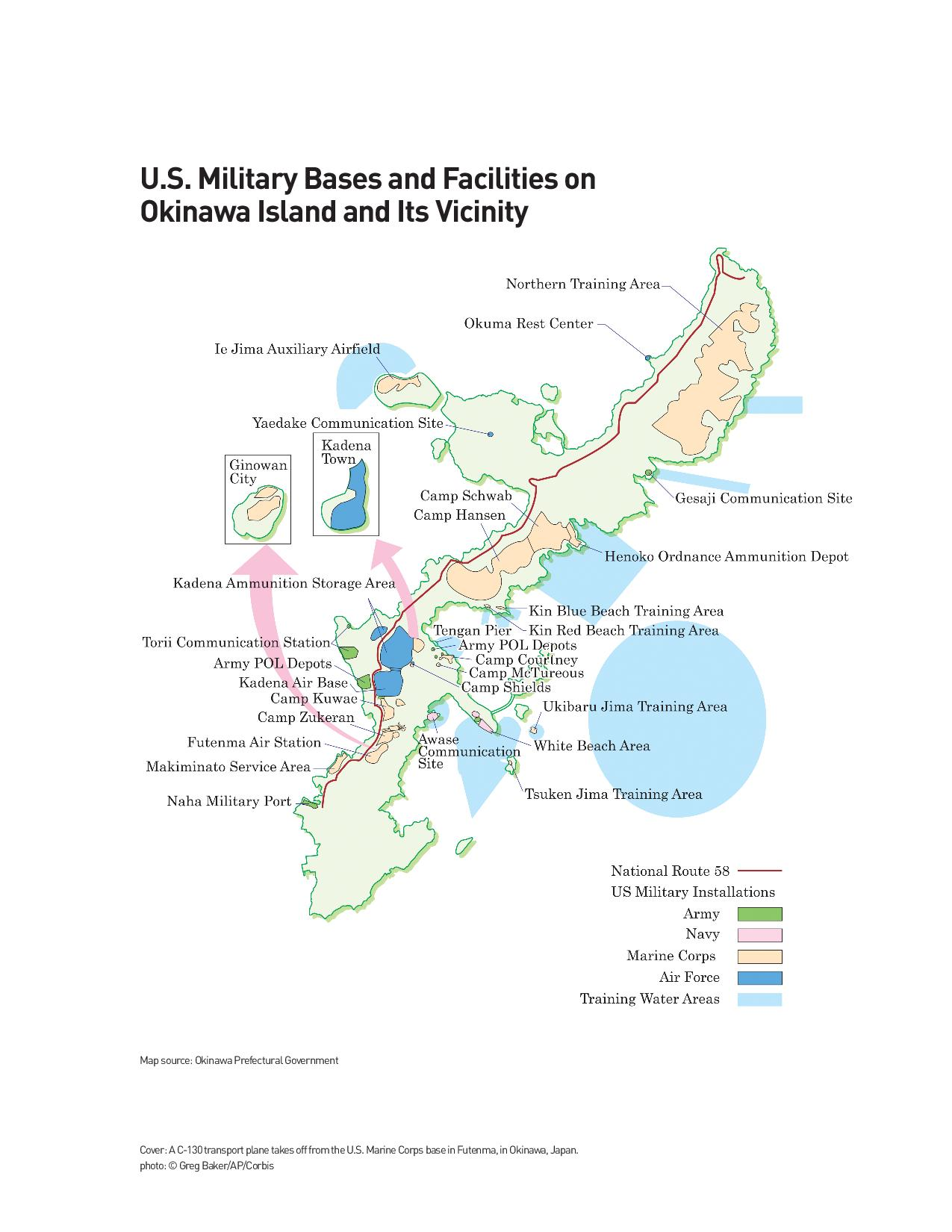 Marine Base In Japan Map.Us Military Okinawa Us Military Base