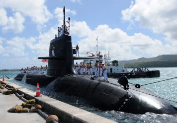 130412-N-LS794-166  APRA HARBOR, Guam (April 12, 2013) Japan Maritime Self-Defense Force (JMSDF) submarine Hakuryu (SS 503) visits Guam for a scheduled port visit. Hakuryu will conduct various training evolutions and liberty while in port. (U.S. Navy photo by Mass Communication Specialist 1st Class Jeffrey Jay Price/Released)