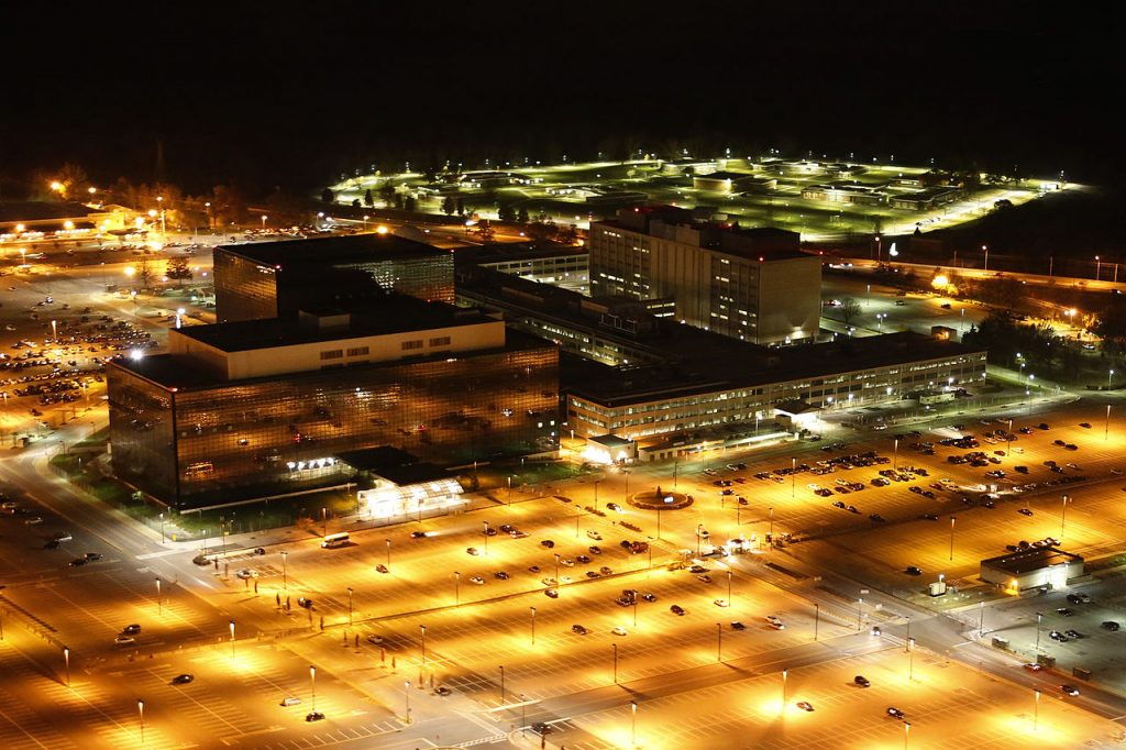 Aerial photograph of the National Security Agency. Photo courtesy